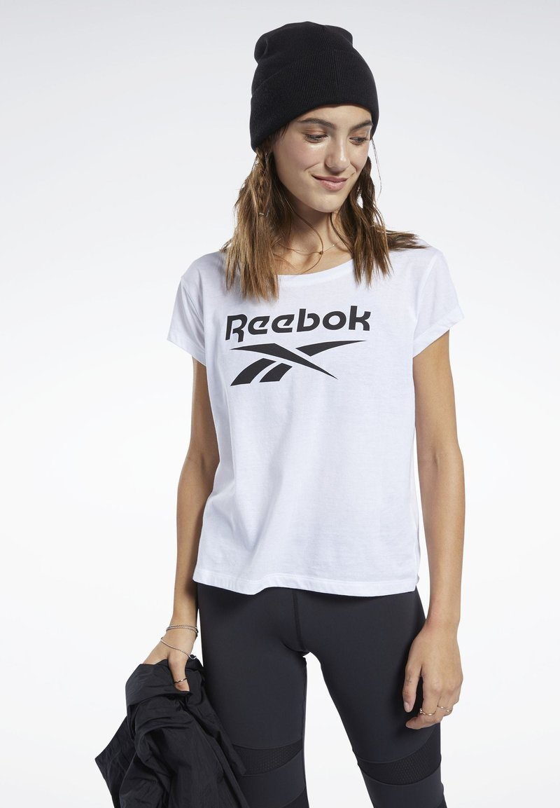 Reebok - GRAPHIC TEE - T-shirts med print - white