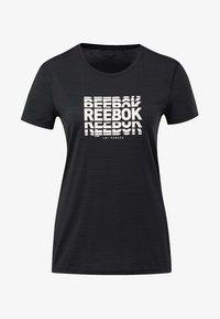 Reebok - ACTIVCHILL GRAPHIC TEE - T-shirt print - black - 6
