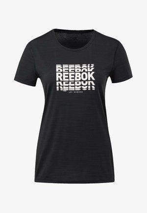 ACTIVCHILL GRAPHIC TEE - T-shirt imprimé - black