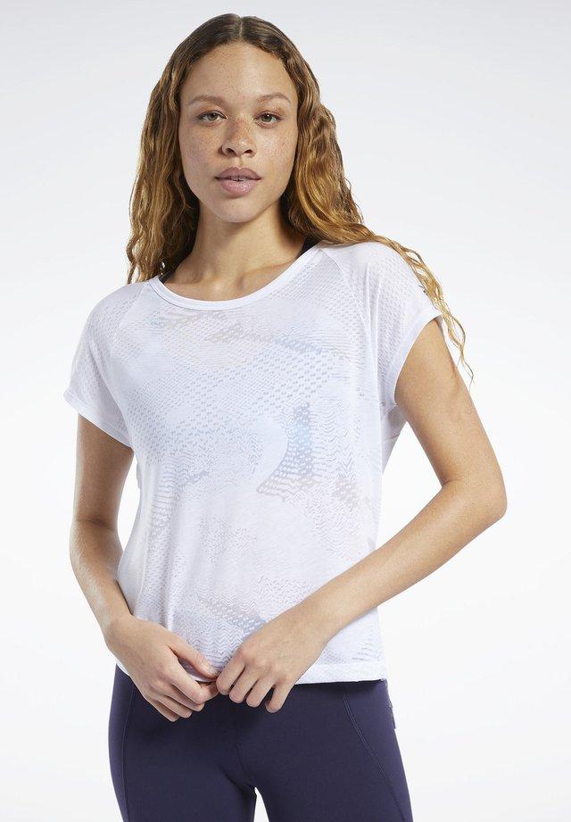 BURNOUT TEE - T-Shirt print - white