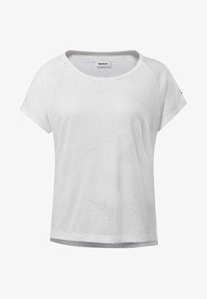 BURNOUT TEE - T-shirts med print - white
