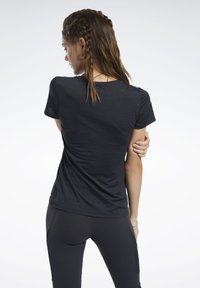 Reebok - ACTIVCHILL TEE - T-shirts - black - 2