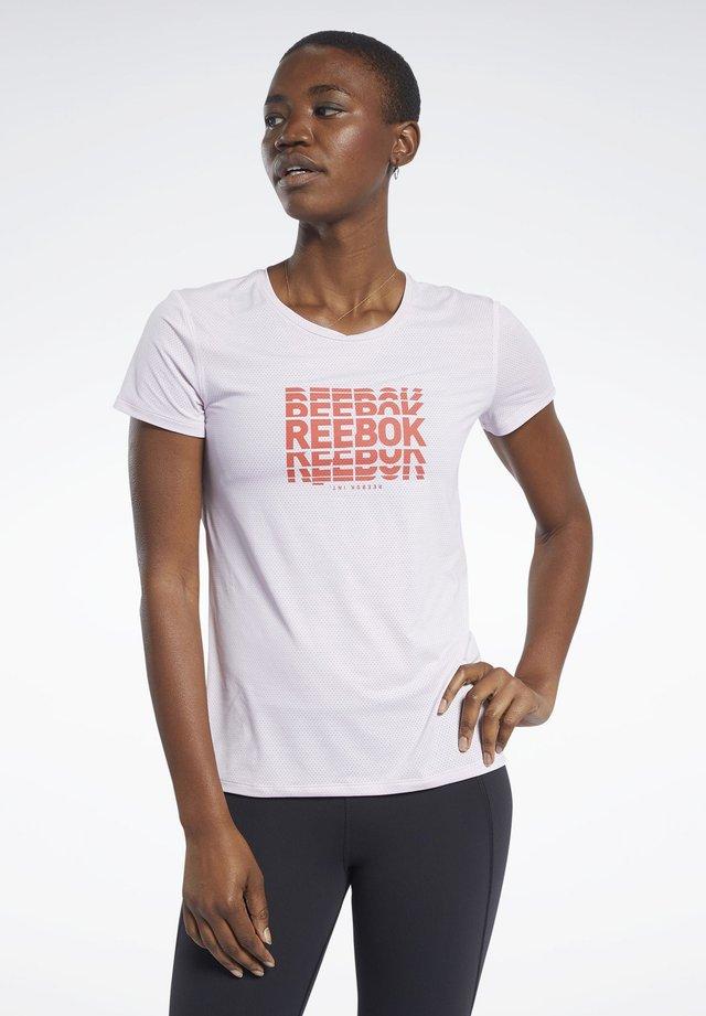 ACTIVCHILL GRAPHIC TEE - T-shirt print - pixel pink