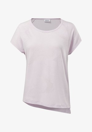 BURNOUT TEE - T-shirt z nadrukiem - pixel pink