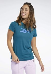Reebok - VECTOR GRAPHIC TEE - T-shirt z nadrukiem - heritage teal - 0