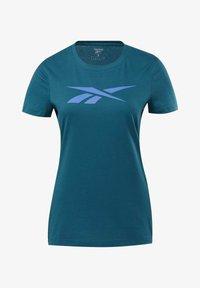 Reebok - VECTOR GRAPHIC TEE - T-shirt z nadrukiem - heritage teal - 6