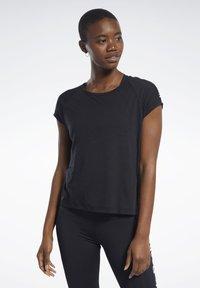 Reebok - BURNOUT TEE - T-shirts - black - 0