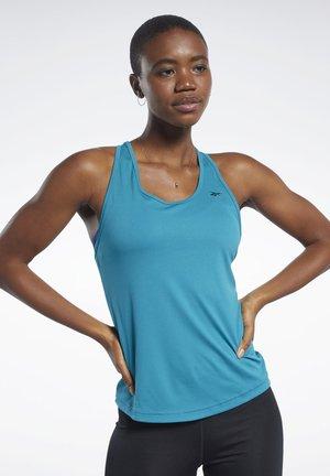 MESH BACK TANK TOP - Sports shirt - teal