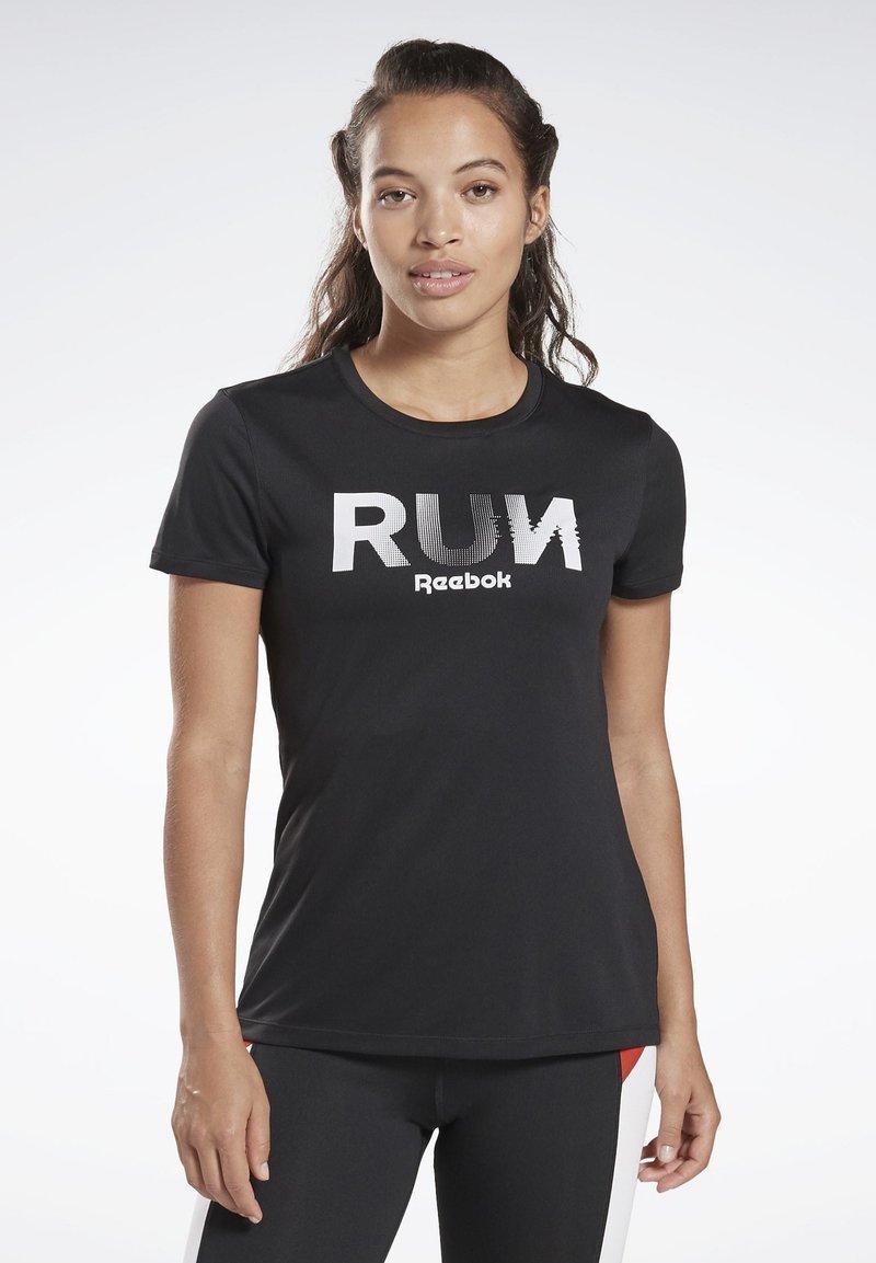 Reebok - RUNNING ESSENTIALS TEE - T-shirt print - black