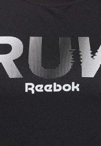 Reebok - RUNNING ESSENTIALS TEE - T-shirt print - black - 4