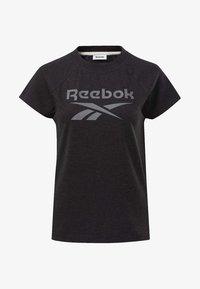 Reebok - TRAINING ESSENTIALS LOGO TEE - Printtipaita - black - 6