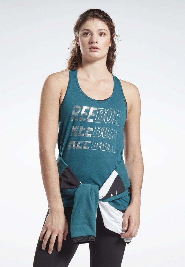 STUDIO HIGH INTENSITY GRAPHIC TANK TOP - Toppe - heritage teal