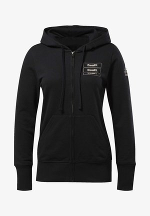FULL-ZIP HOODIE - Zip-up hoodie - black