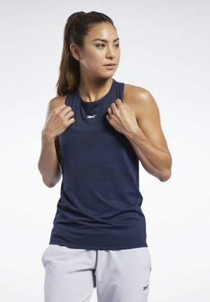 UNITED BY FITNESS ACTIVCHILL VENT TANK TOP - Topper - blue
