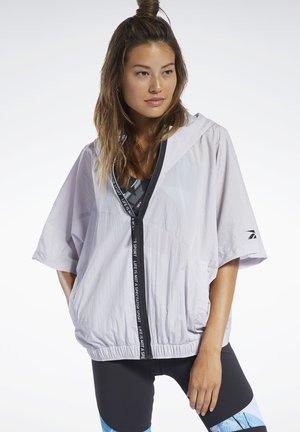WOVEN SHORT SLEEVE JACKET - veste en sweat zippée - sterling grey