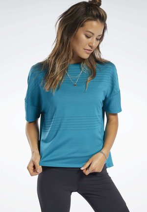 PERFORATED TEE - Basic T-shirt - seaport teal