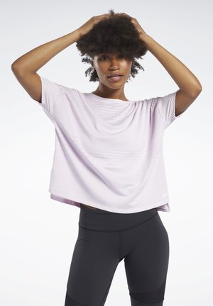 PERFORATED TEE - Print T-shirt - pixel pink