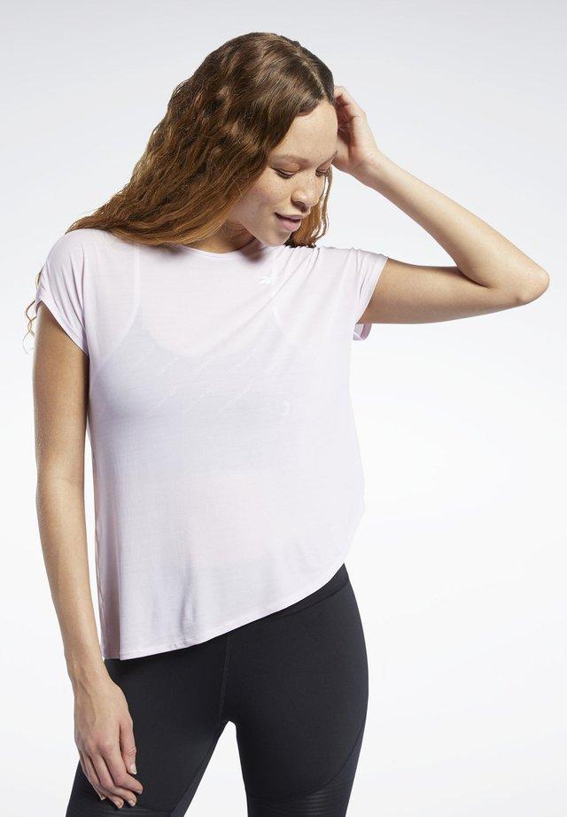 WORKOUT READY ACTIVCHILL TEE - T-shirt print - pixel pink
