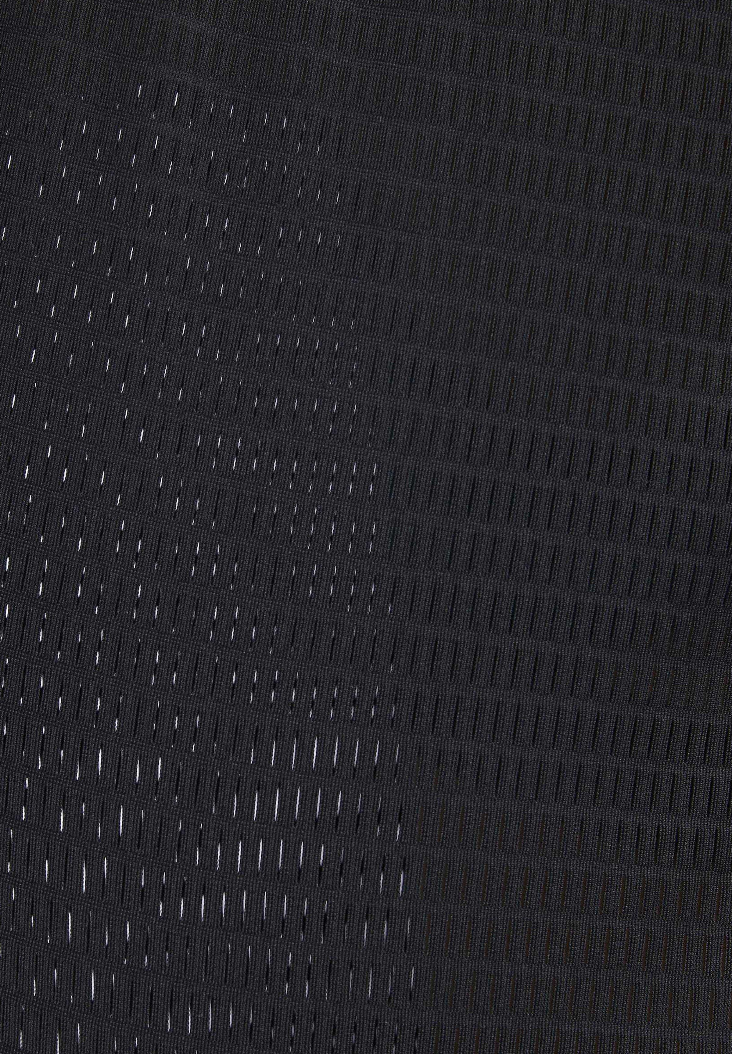Reebok PERFORATED TEE - T-shirt z nadrukiem - black