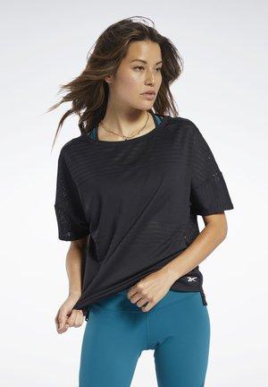 PERFORATED TEE - T-shirts print - black