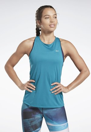 RUNNING ESSENTIALS TANK TOP - Treningsskjorter - seaport teal