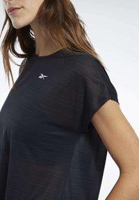 Reebok - WORKOUT READY ACTIVCHILL TEE - T-shirts - black - 5