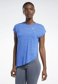 Reebok - WORKOUT READY ACTIVCHILL TEE - T-shirts med print - blue - 0