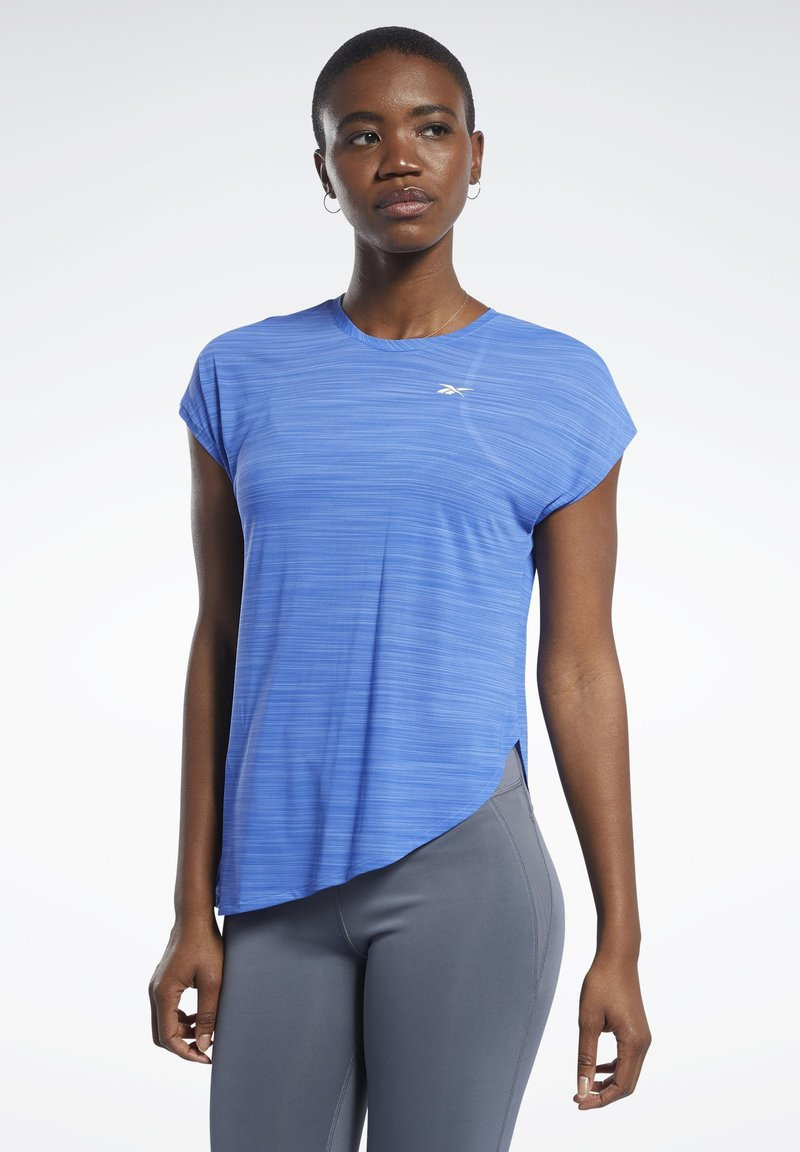 Reebok - WORKOUT READY ACTIVCHILL TEE - T-shirts med print - blue