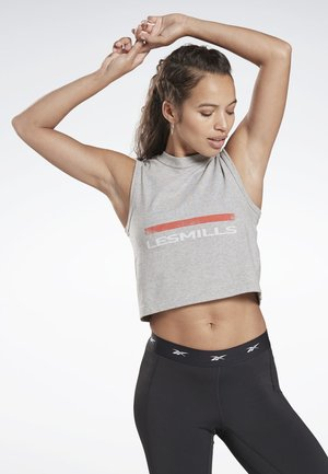 LES MILLS® GRAPHIC TANK TOP - Topper - grey