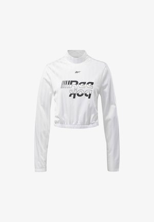 MEET YOU THERE CROP TOP - Langærmede T-shirts - white