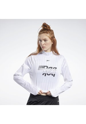 MEET YOU THERE CROP TOP - Topper langermet - white