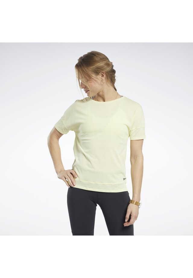 ACTIVCHILL+COTTON TEE - T-shirt basic - yellow