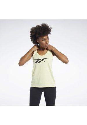 TRAINING ESSENTIALS GRAPHIC TANK TOP - Sports shirt - yellow