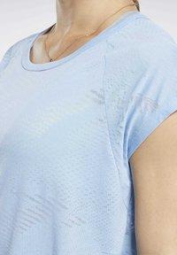 Reebok - BURNOUT TEE - T-shirt print - blue - 3