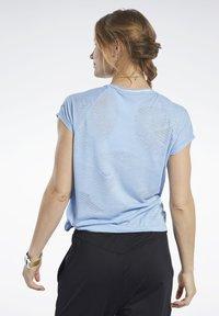 Reebok - BURNOUT TEE - T-shirt print - blue - 2