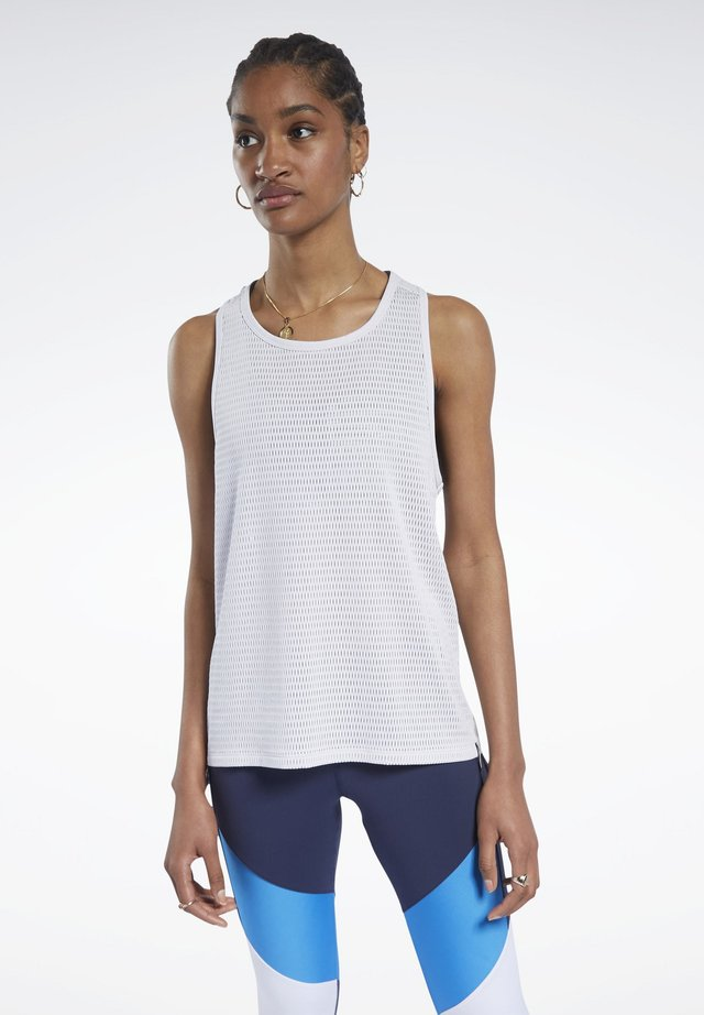 PERFORATED TANK TOP - Top - white