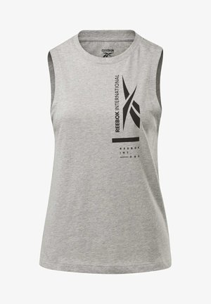 GRAPHIC TANK TOP - Top - grey