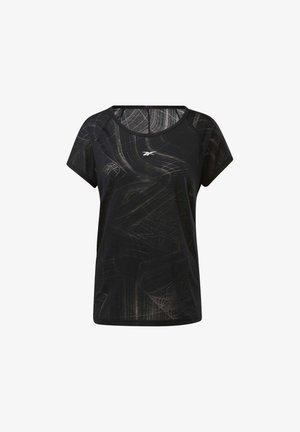 BURNOUT TEE - T-shirt print - Black