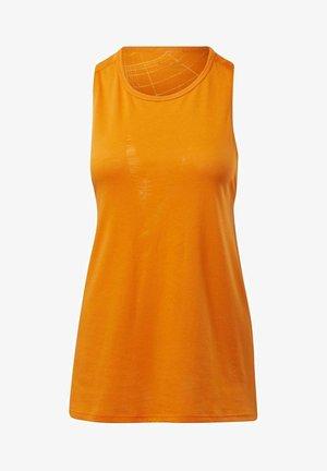 BURNOUT TANK TOP - Top - orange