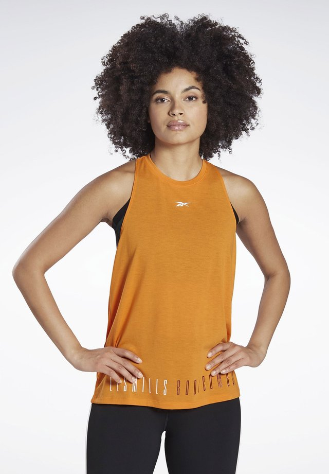 LES MILLS® BODYCOMBAT® SUPREMIUM TANK TOP - Linne - orange