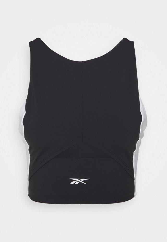 COLORBLOCK CROP  - Sports shirt - black