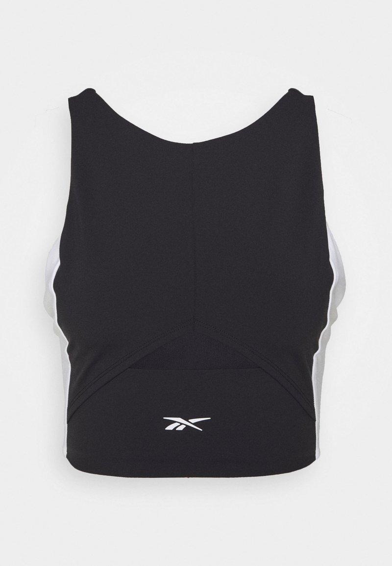Reebok - COLORBLOCK CROP  - Camiseta de deporte - black