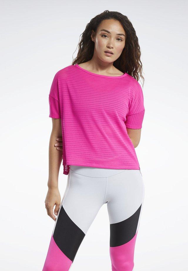 PERFORATED T-SHIRT - T-shirt print - pink