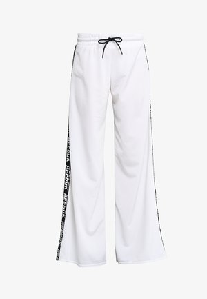 WIDE LEG  - Tracksuit bottoms - white