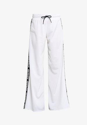 WIDE LEG  - Tracksuit bottoms - white