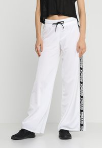 Reebok - WIDE LEG  - Tracksuit bottoms - white - 0