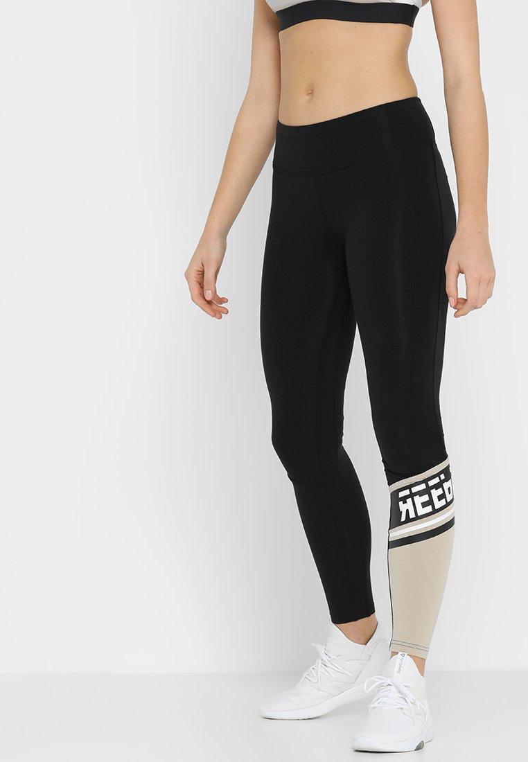 Reebok - PANEL - Leggings - black