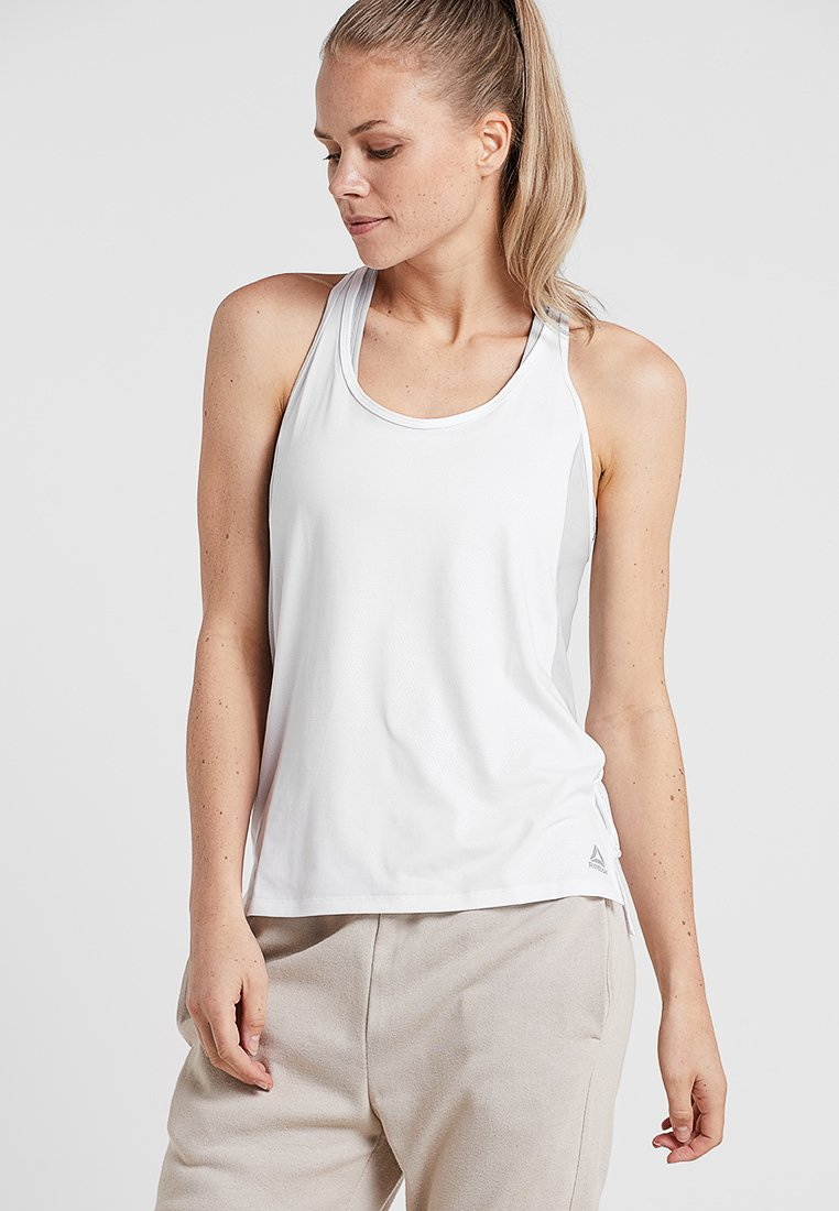 Reebok - SMARTVENT TANK - Sports shirt - white