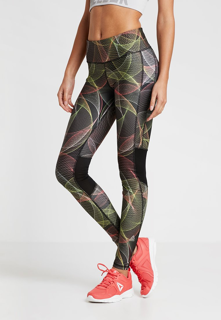 Reebok - Tights - black/neolim