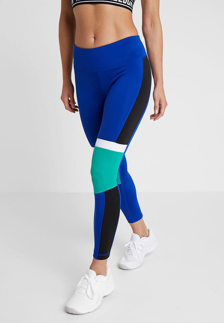 Reebok - TRAINING PANELLED LEGGING - Medias - cobalt